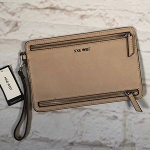 Nine West Wristlet. New!  Nude color